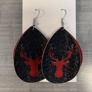 Jewelry - Deer faux leather earrings